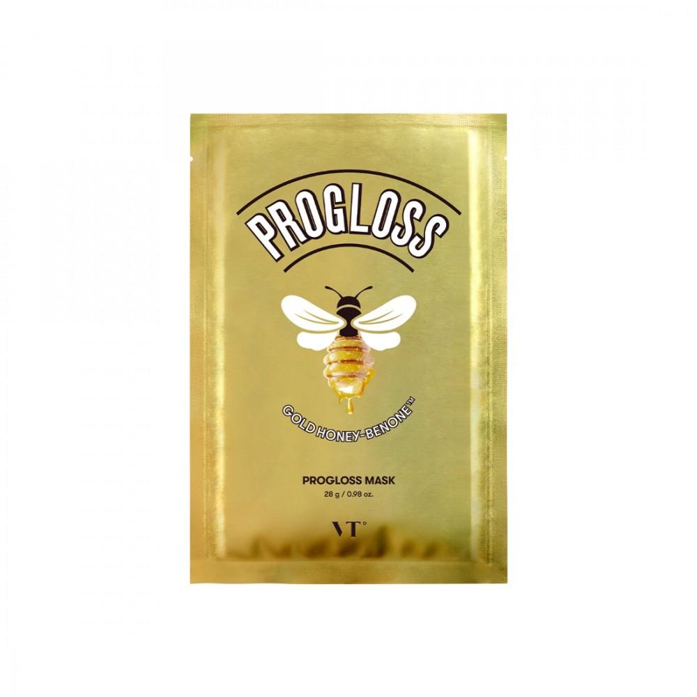 VT Cosmetics Progloss Mask Тканевая маска с золотом и прополисом