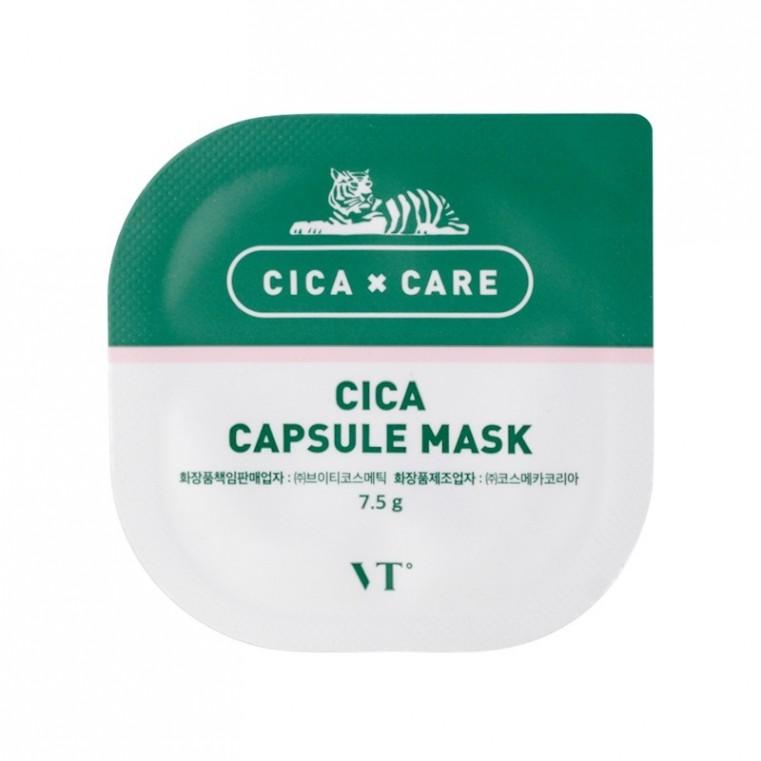 VT Cosmetics Cica Capsule Mask Успокаивающая глиняная маска с центеллой  7,5ml