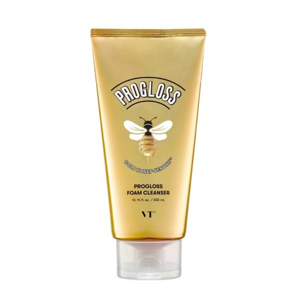 Vt Cosmetics Progloss Foam Cleanser Очищающая пенка для умывания с медом и золотом