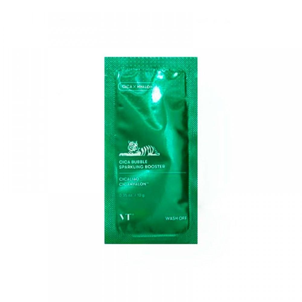 VT Cosmetics CICA Bubble Sparkling Booster Успокаивающая маска-пенка с центеллой