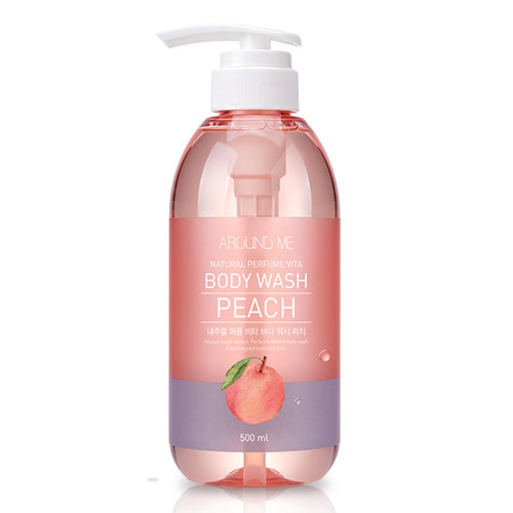 Welcos AROUND ME Natural Perfume Vita Body Wash Peach Гель для душа с экстрактом персика