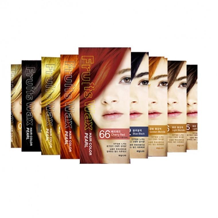 Welcos Fruits Wax Pearl Hair Color Краска для волос на фруктовой основе