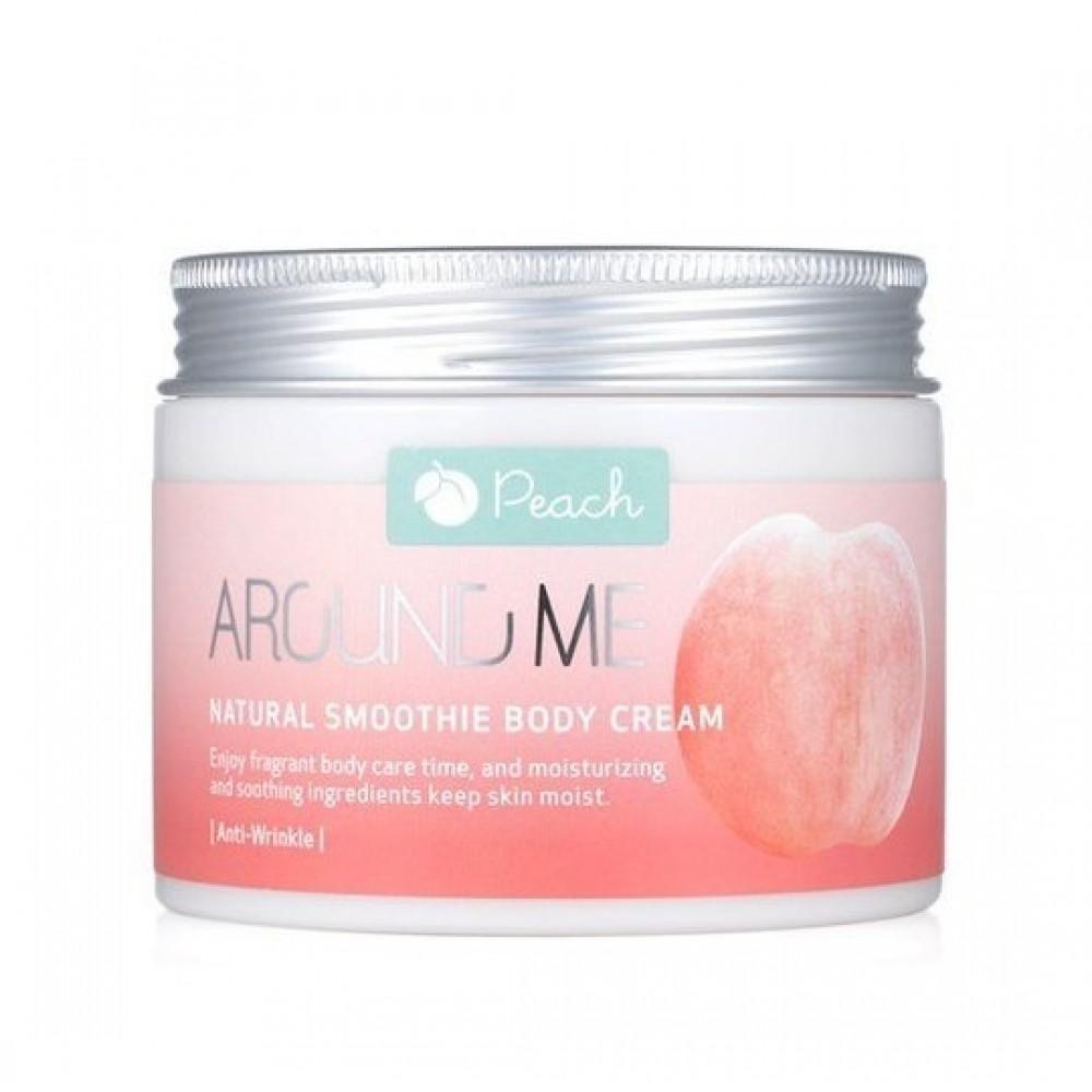 Welcos Around Me Natural Body Smoothie Cream Peach Крем-смузи для тела с экстрактом персика