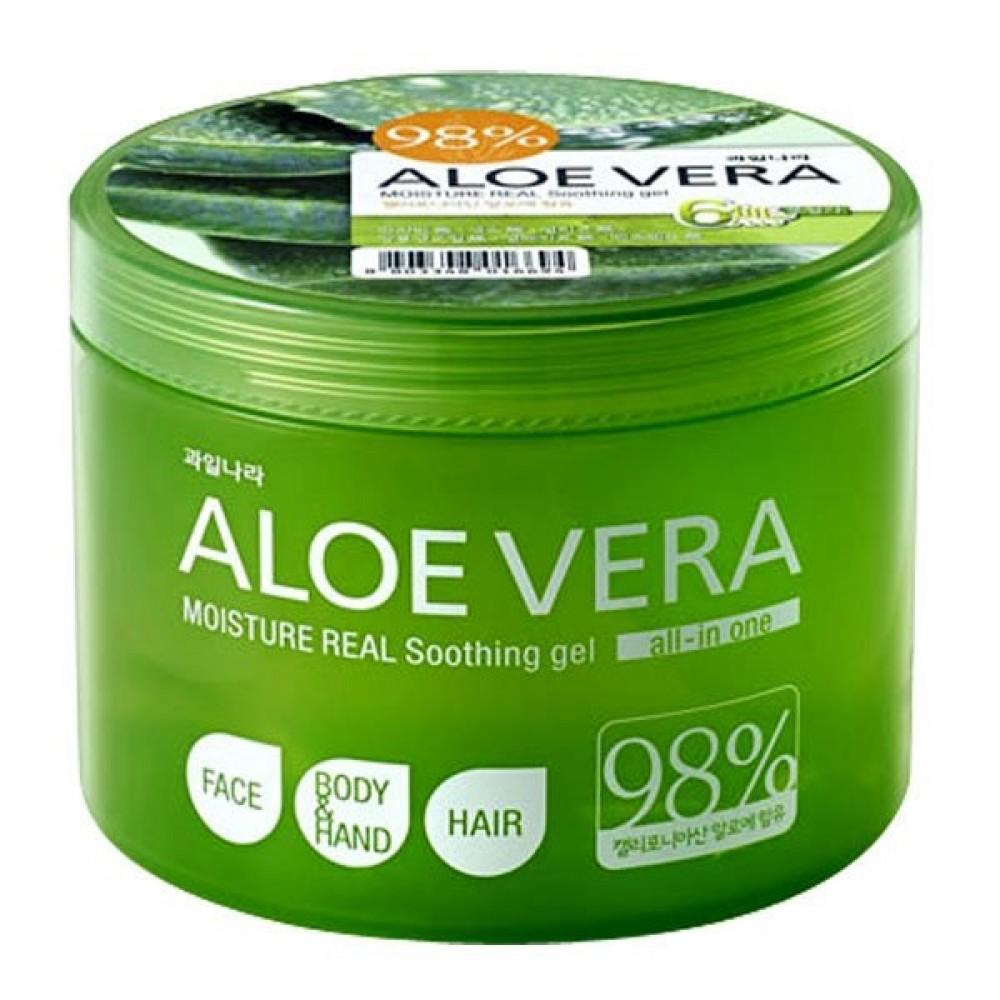 Welcos Aloe Vera Moisture Real Soothing Gel Универсальный гель успокаивающий, 500мл