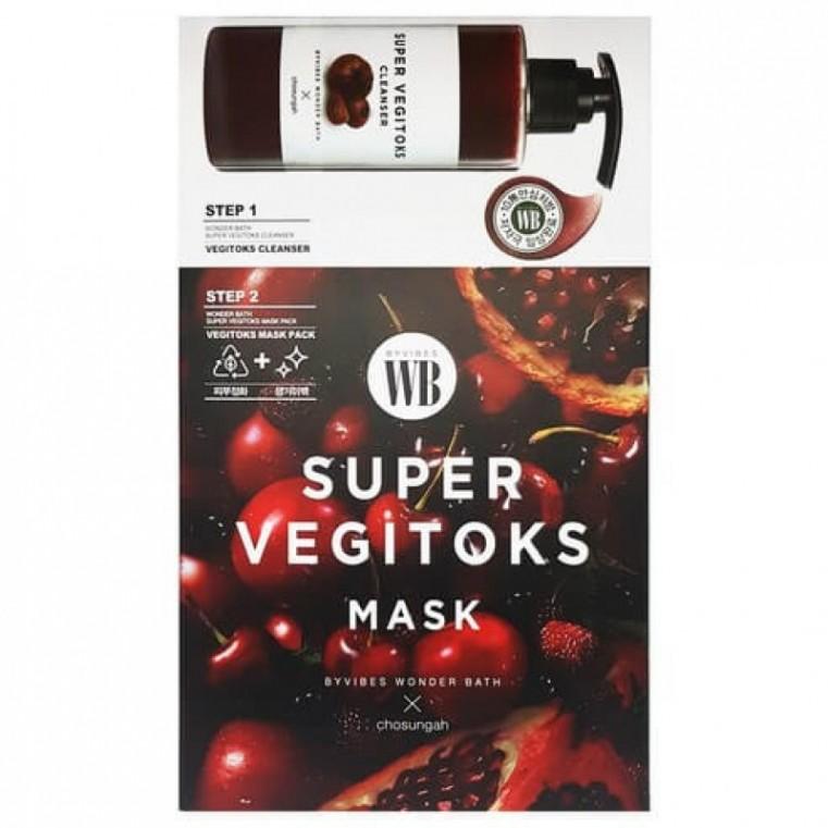 Chosungah By Vibes Wonder Bath Super Vegitoks Mask Red Осветляющая 2-х ступенчатая детокс-система