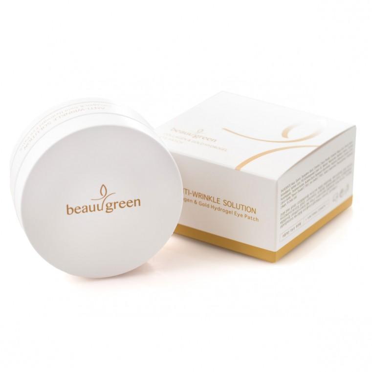 BeauuGreen Collagen & Gold Hydrogel Eye Patch Патчи гидрогелевые c коллагеном и коллоидным золотом