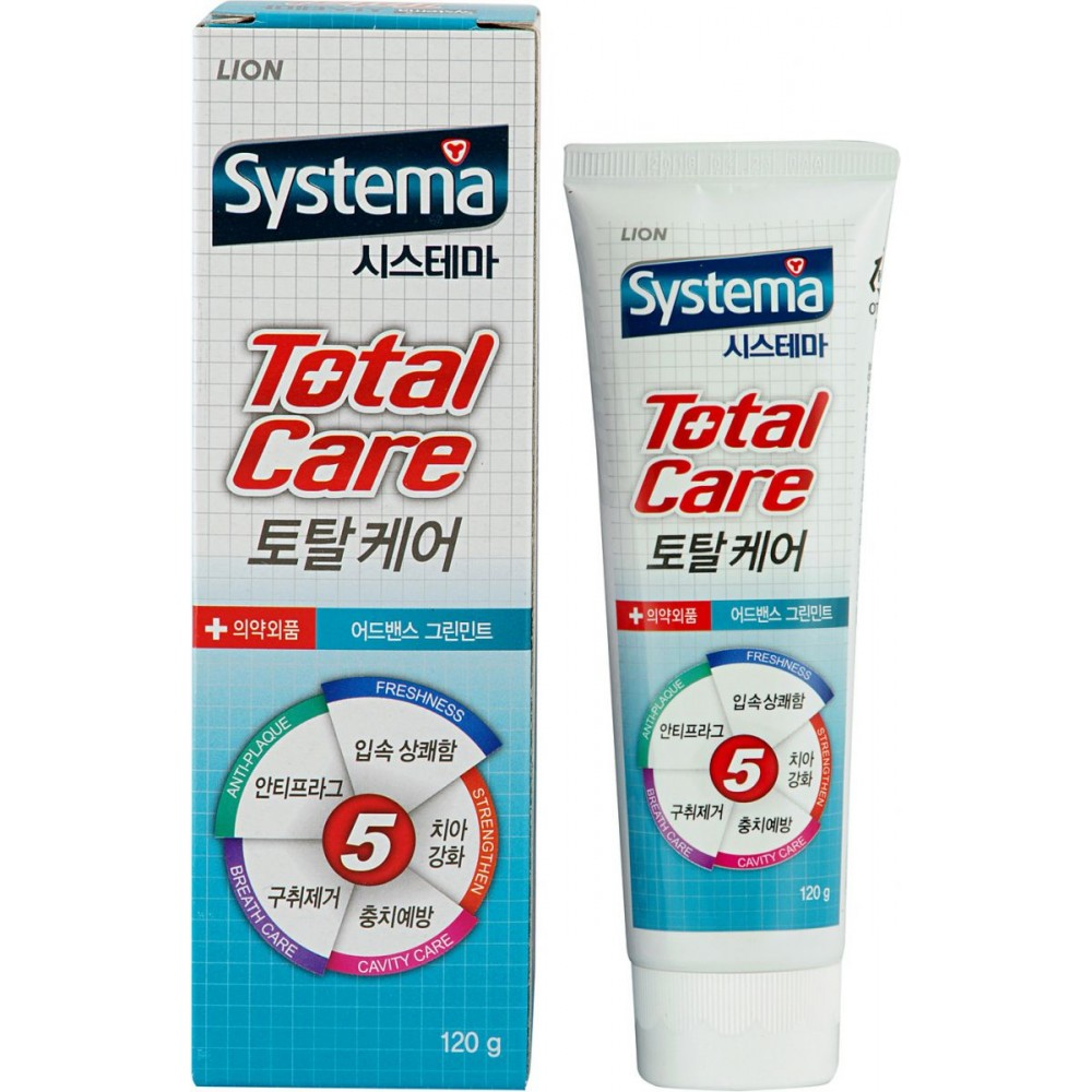 CJ LION Dentor Systema Total Care Зубная паста комплексный уход с ароматом мяты
