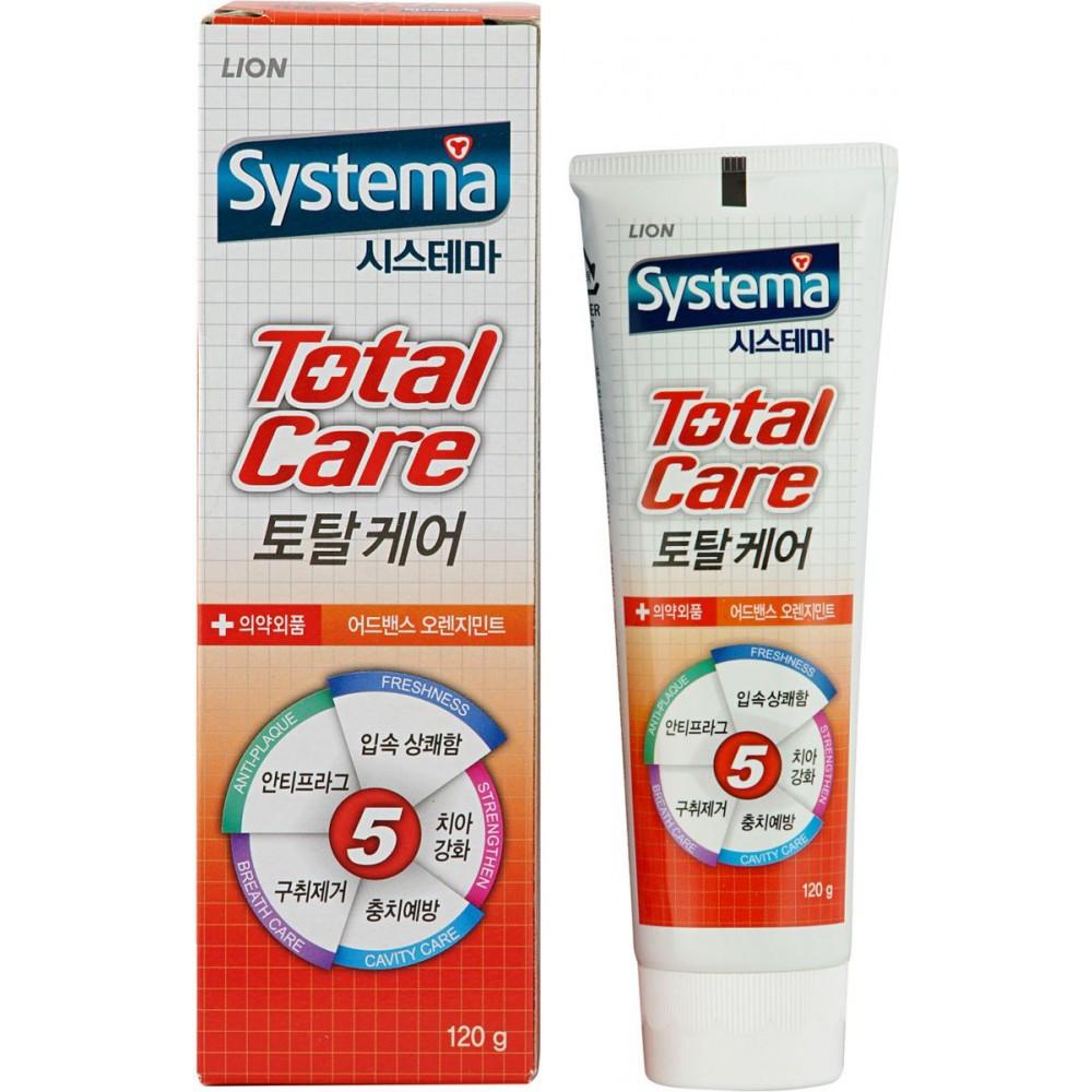 CJ LION Dentor Systema Total Care Orange Mint Зубная паста для комплексного ухода (аромат апельсина)