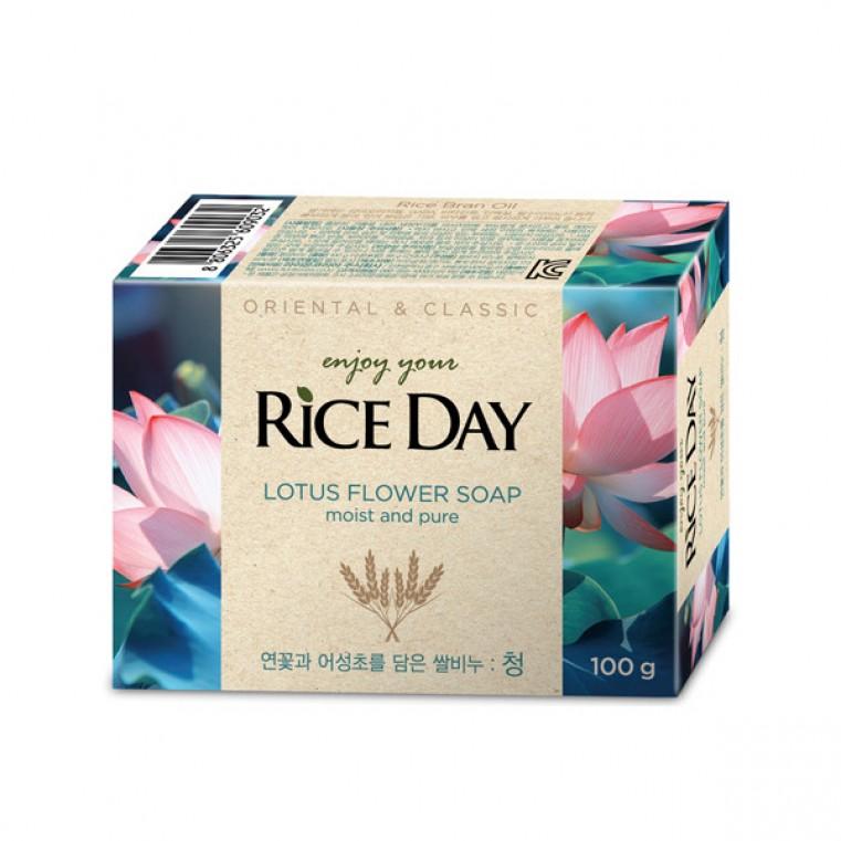 CJ Lion Rice Day Lotus Soap Мыло туалетное с ароматом лотоса