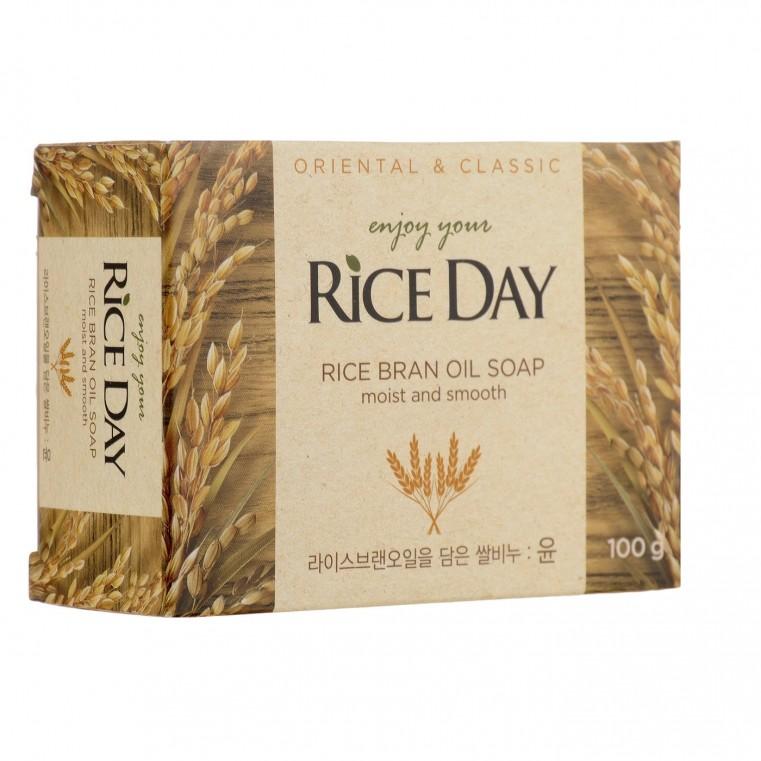 CJ LION Rice Day Rice Bran Oil Soap Туалетное мыло для рук и тела с маслом рисовых отрубей
