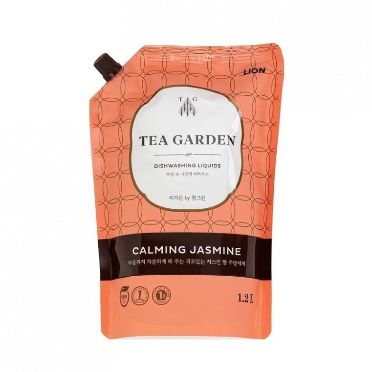 CJ Lion Chamgreen Tea Garden Dishwashing Liquids Calming Jasmine Средство для мытья посуды Успокаивающий жасмин, мягкая упаковка 1,2л