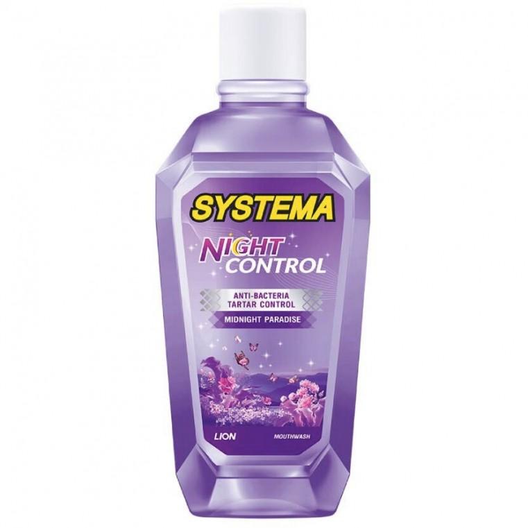 LION Thailand Systema Mouth Rinse Night Control Midnight Paradise  Ополаскиватель для полости рта Защита в ночное время