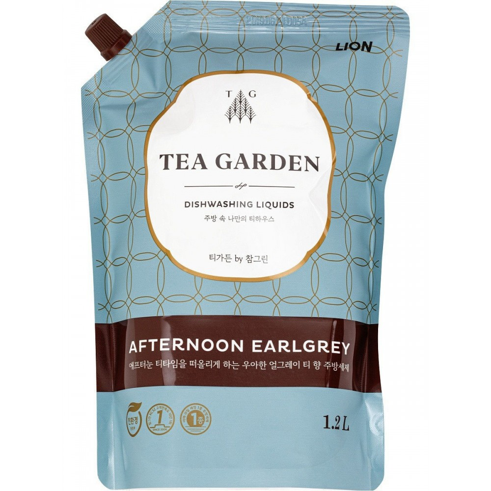 CJ LION Chamgreen Tea Garden Afternoon Earlgrey Средство для мытья посуды  с ароматом бергамота