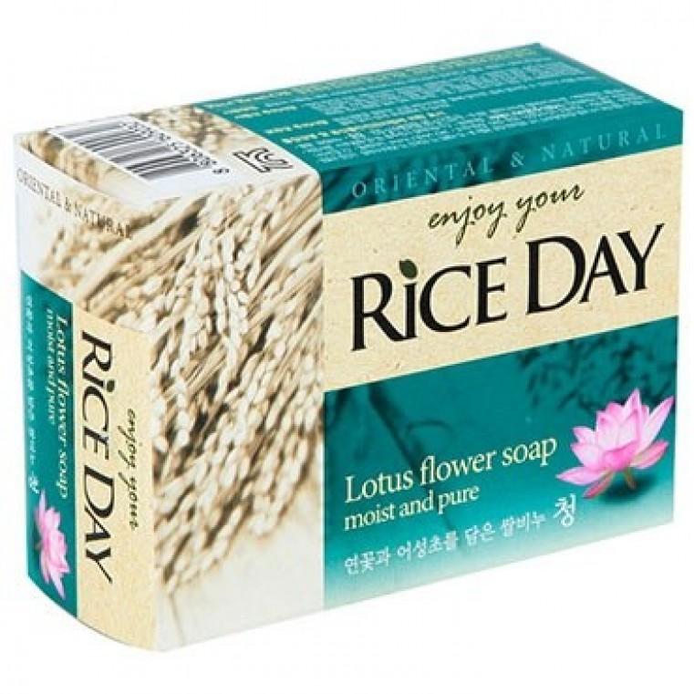 CJ Lion Rice Day Lotos Мыло туалетное с ароматом лотоса