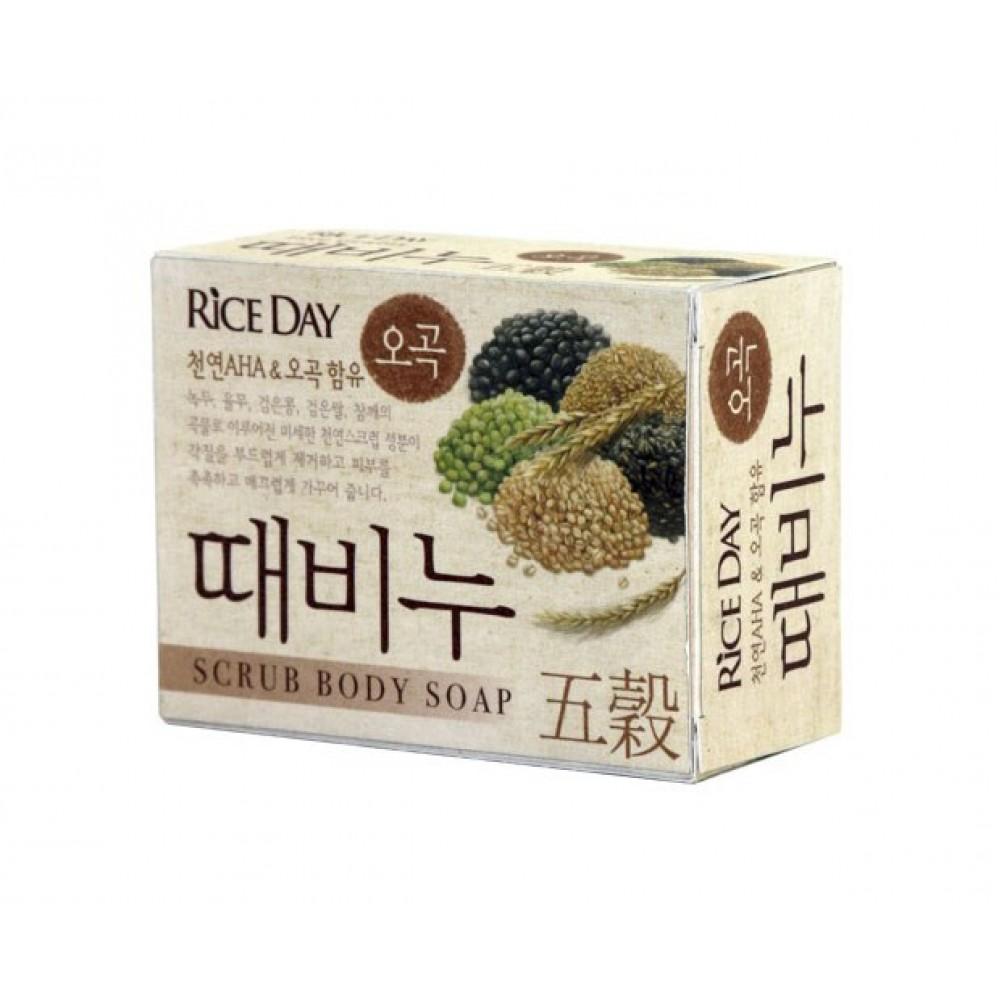 CJ Lion Rice Day Scrub Body 5 Cereals Soap Мыло-скраб для тела и рук с экстрактом 5 злаков