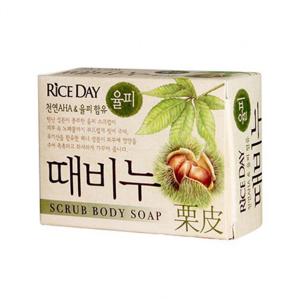 CJ Lion Rice Day chestnut shell Скраб-мыло туалетное земляной орех