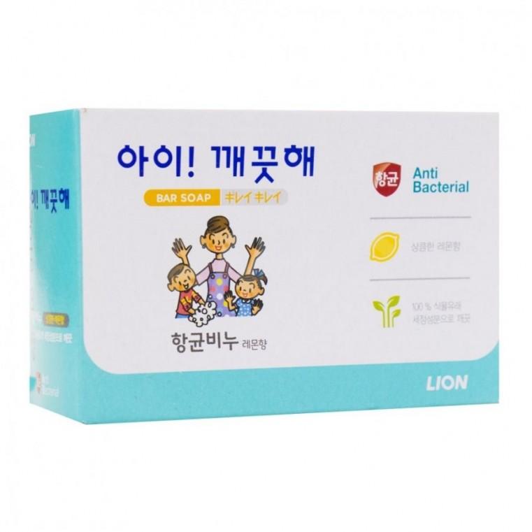 Lion Ai-Kekute Bar Soap Антибактериальное лимонное мыло для всей семьи