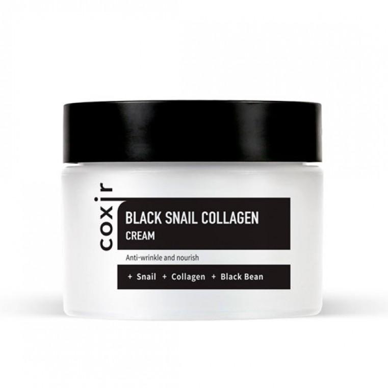 COXIR Black Snail Collagen Cream Крем антивозрастной питательный с муцином улитки