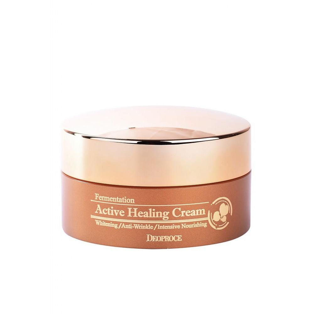 DEOPROCE Fermentation Active Healing Cream Оздоравливающий крем с ферментированными экстрактами