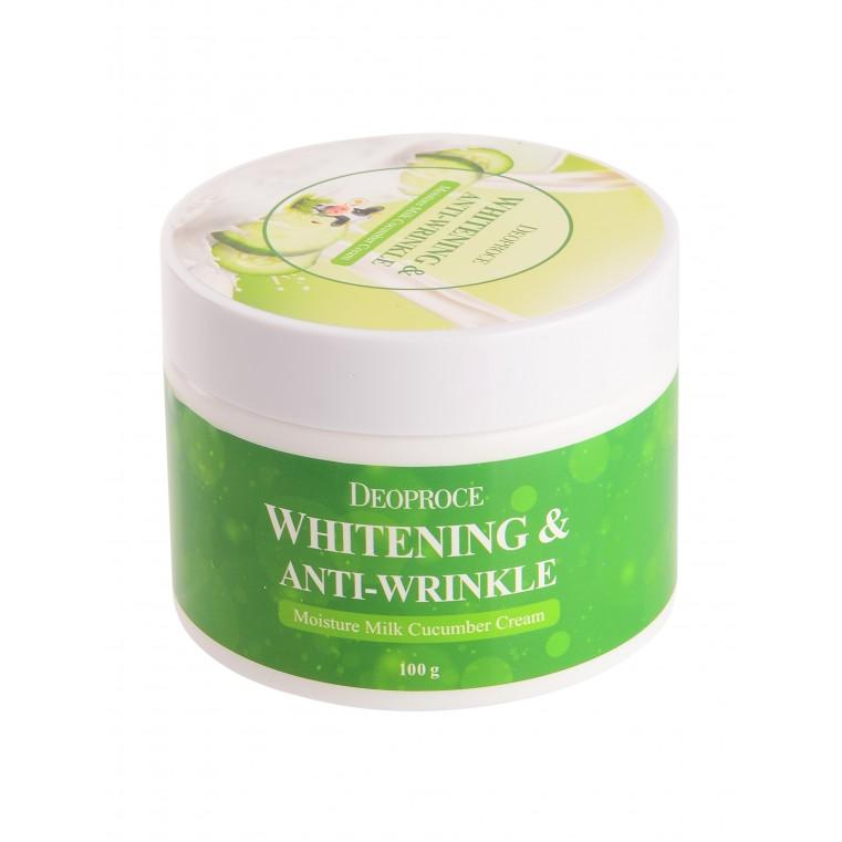 DEOPROCE Moisture Milk Cucumber Cream Увлажняющий крем с экстрактом огурца