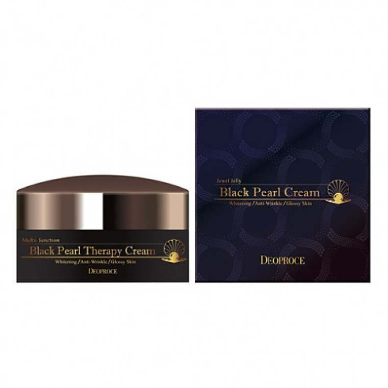 Deoproce Black Pearl Therapy Cream Крем для лица с черным жемчугом антивозрастной