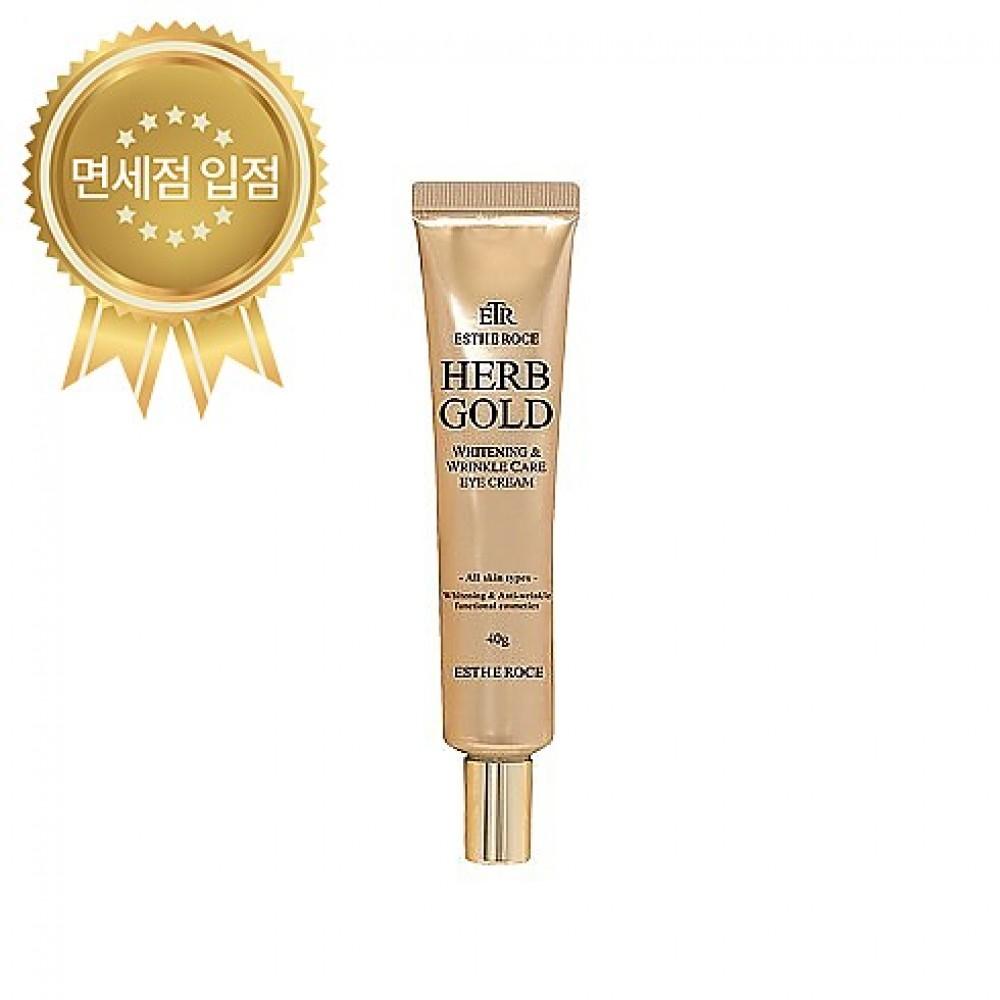 Deoproce ESTHEROCE Herb Gold Whitening & Wrinkle Care Eye Cream Крем для глаз с золотом и лекарственными экстрактами