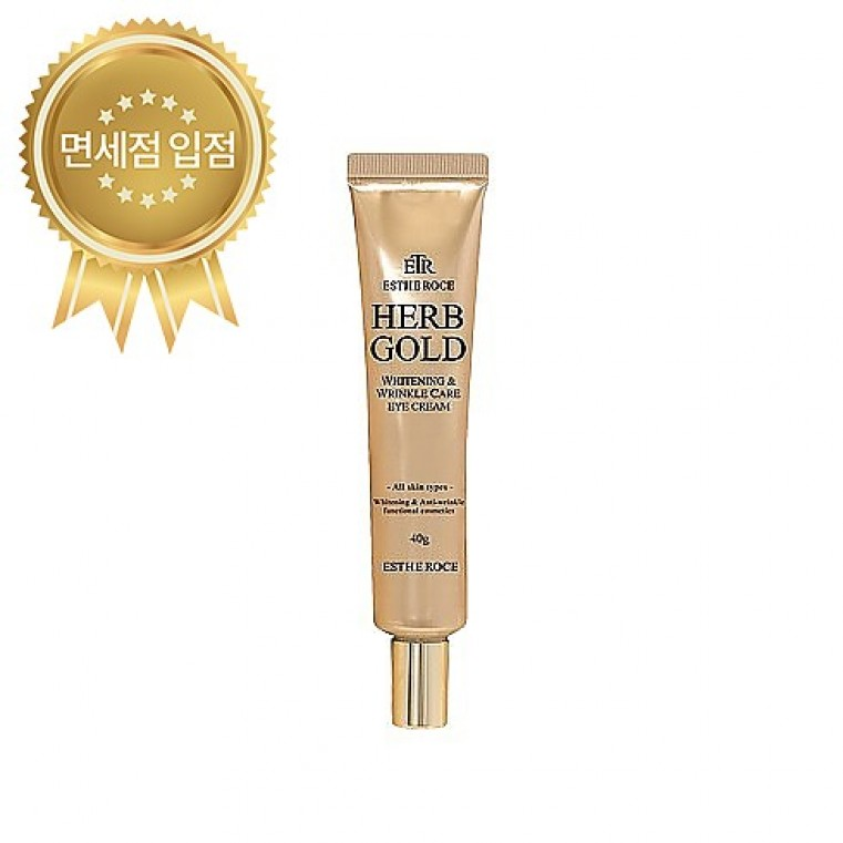 ESTHEROCE Herb Gold Whitening & Wrinkle Care Eye Cream Крем для глаз с золотом и лекарственными экстрактами