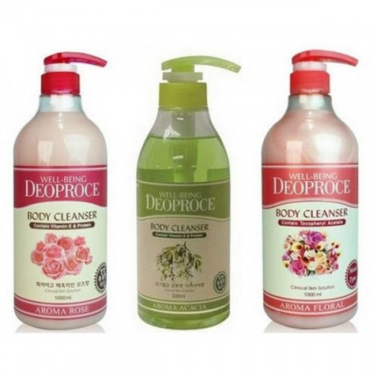Deoproce Well-Being Aroma Body Cleanser - Гель для душа с букетом цветочных экстрактов