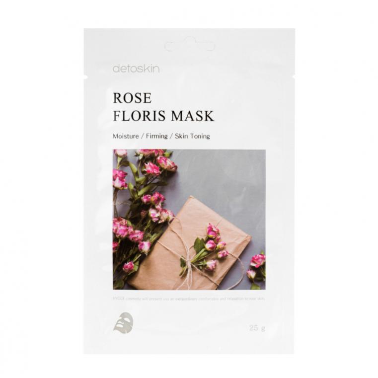detoskin Rose Floris Mask Тканевая маска цветочная с экстрактом дамасской розы
