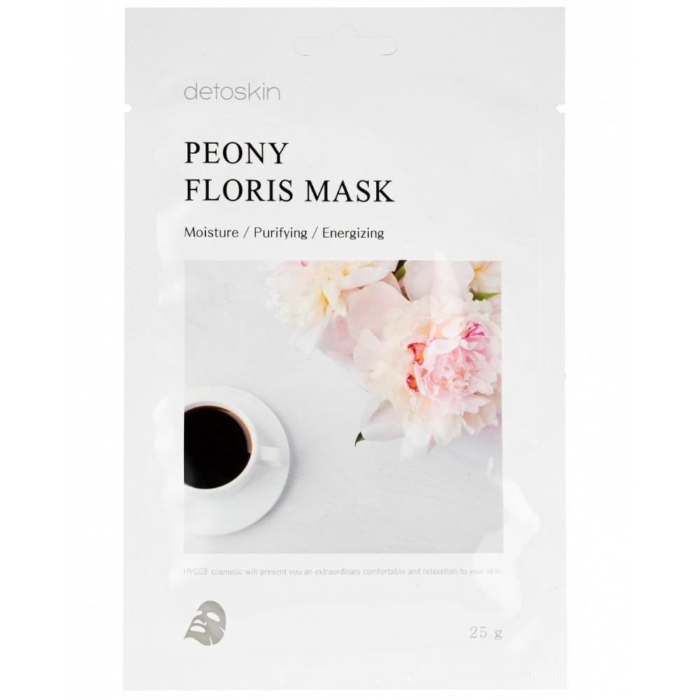 detoskin Peony Floris Mask Тканевая маска цветочная с экстрактом пиона