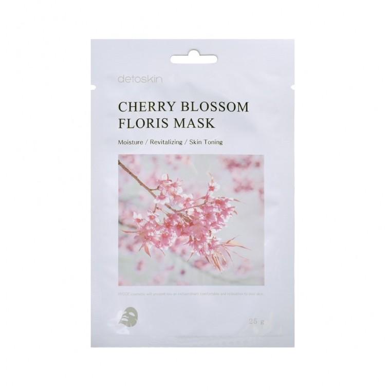 detoskin Cherry Blossom Floris Mask Тканевая маска цветочная с экстрактом сакуры