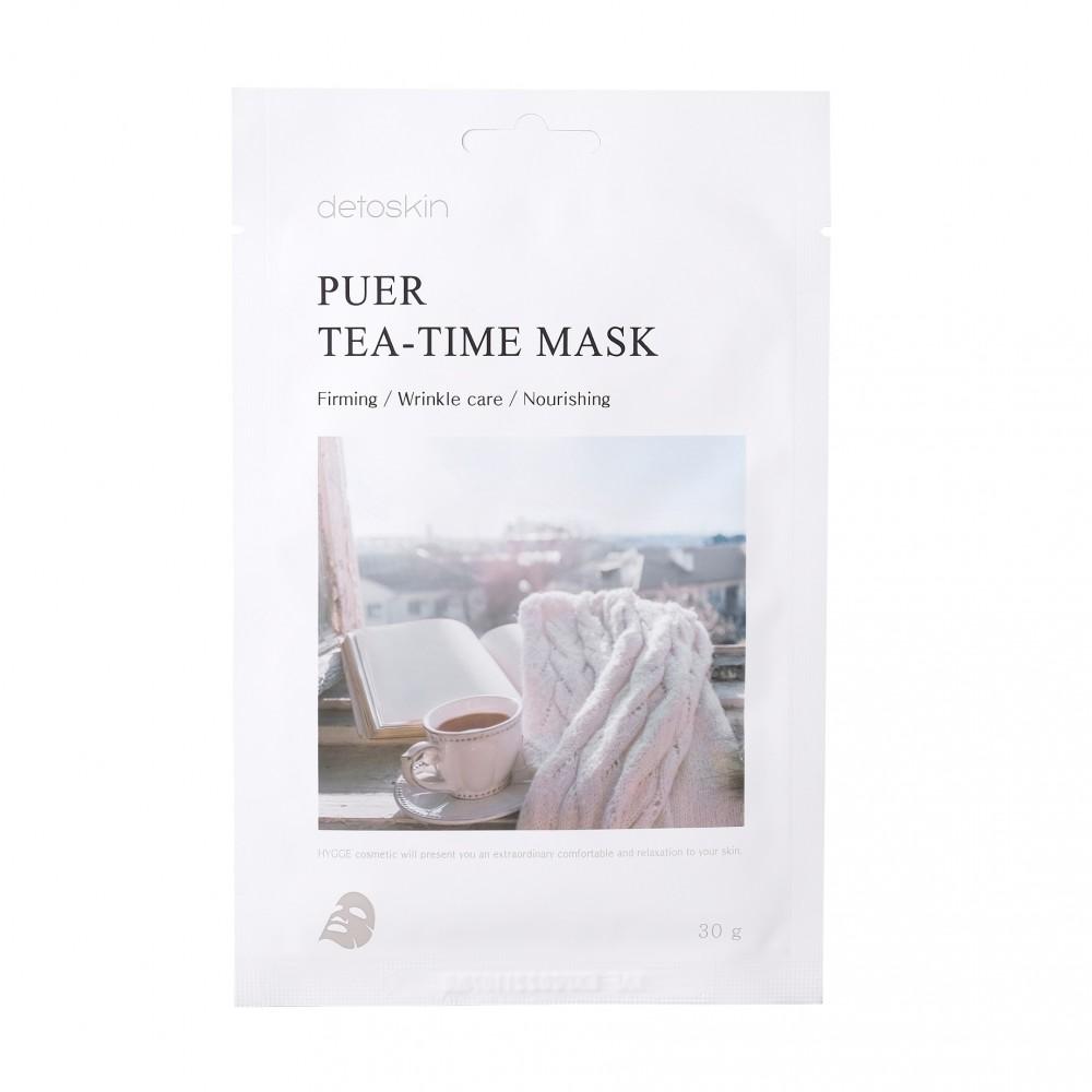 detoskin Puer Tea-Time Mask Тканевая маска с экстрактом листьев Пуэра