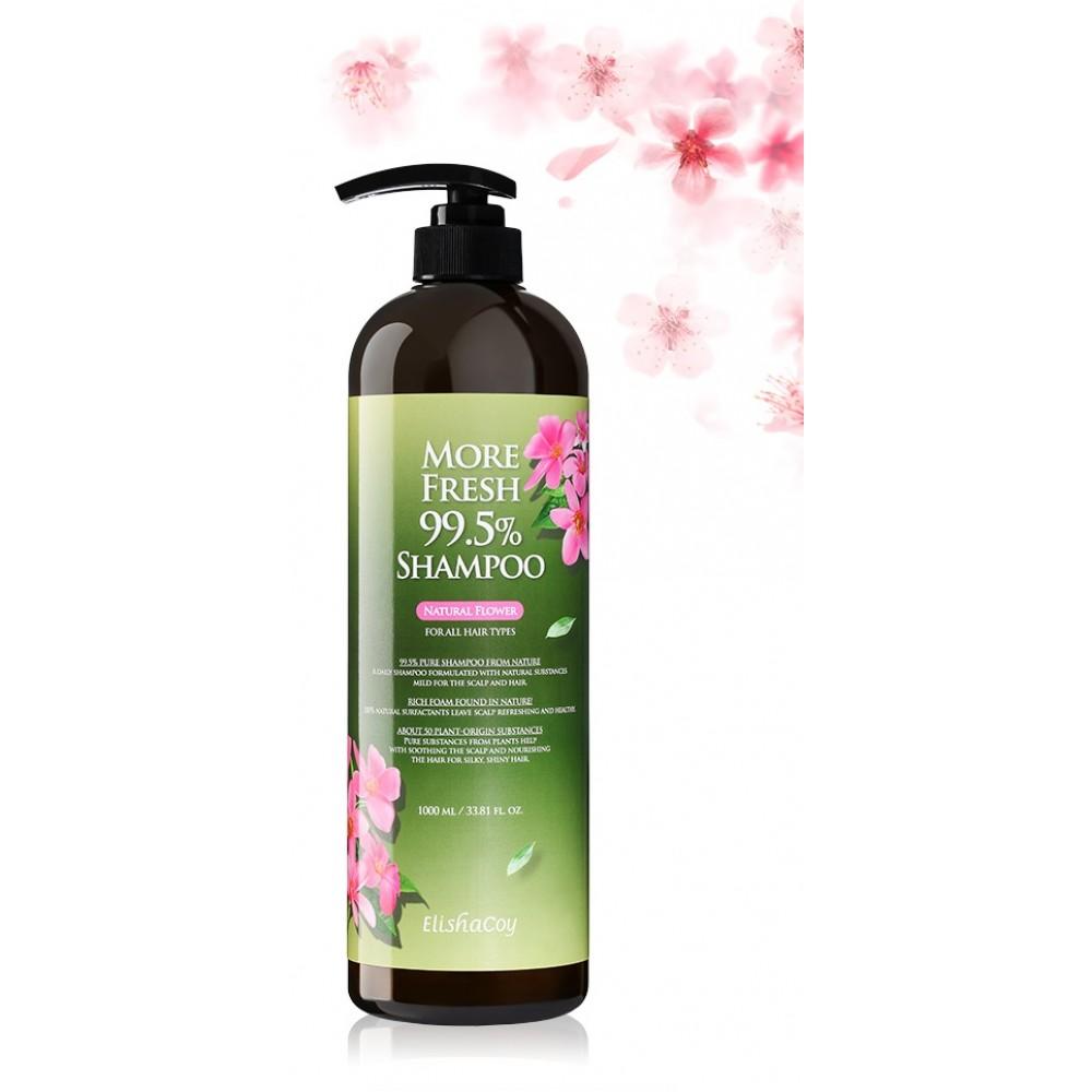Шампунь для волос натуральный: More Fresh 99.5% Shampoo [Natural Flower] Elishacoy More