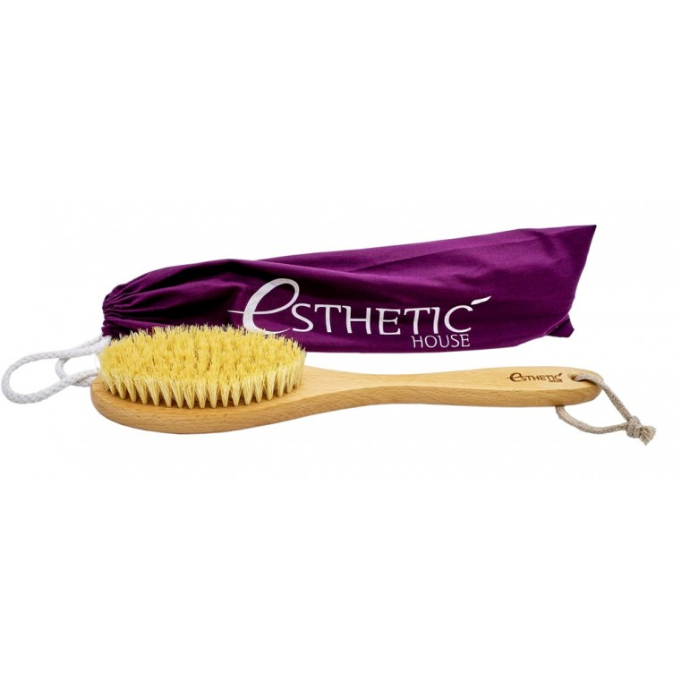 ESTHETIC HOUSE Dry Massage Brush Дренажная щётка для сухого массажа из бука и натуральной щетины