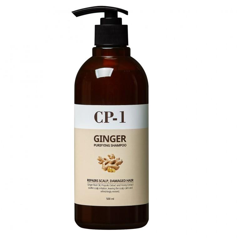 Esthetic House CP-1 Ginger Purifying Shampoo Шампунь для поврежденных волос с экстрактом имбиря и мёда