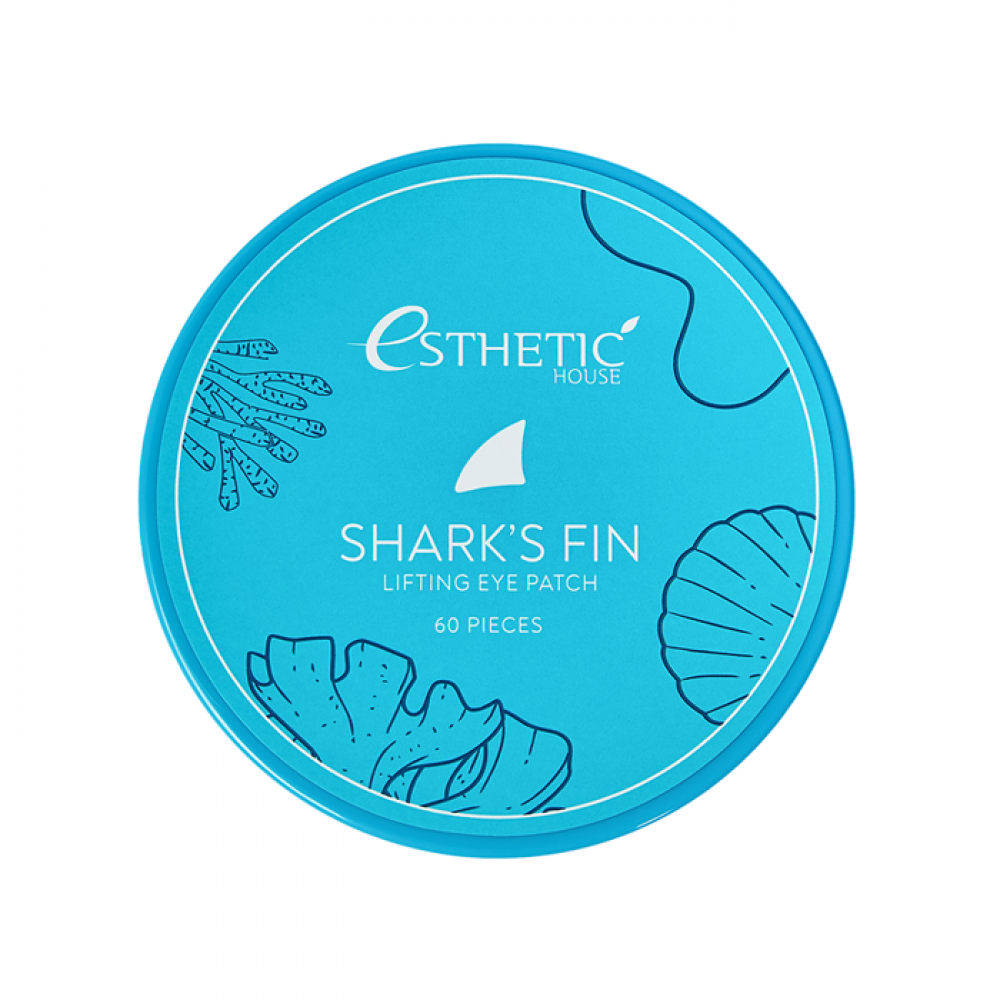 ESTHETIC HOUSE Shark's Fin Lifting Eye Patch Гидрогелевые патчи для глаз с экстрактом акульего плавника