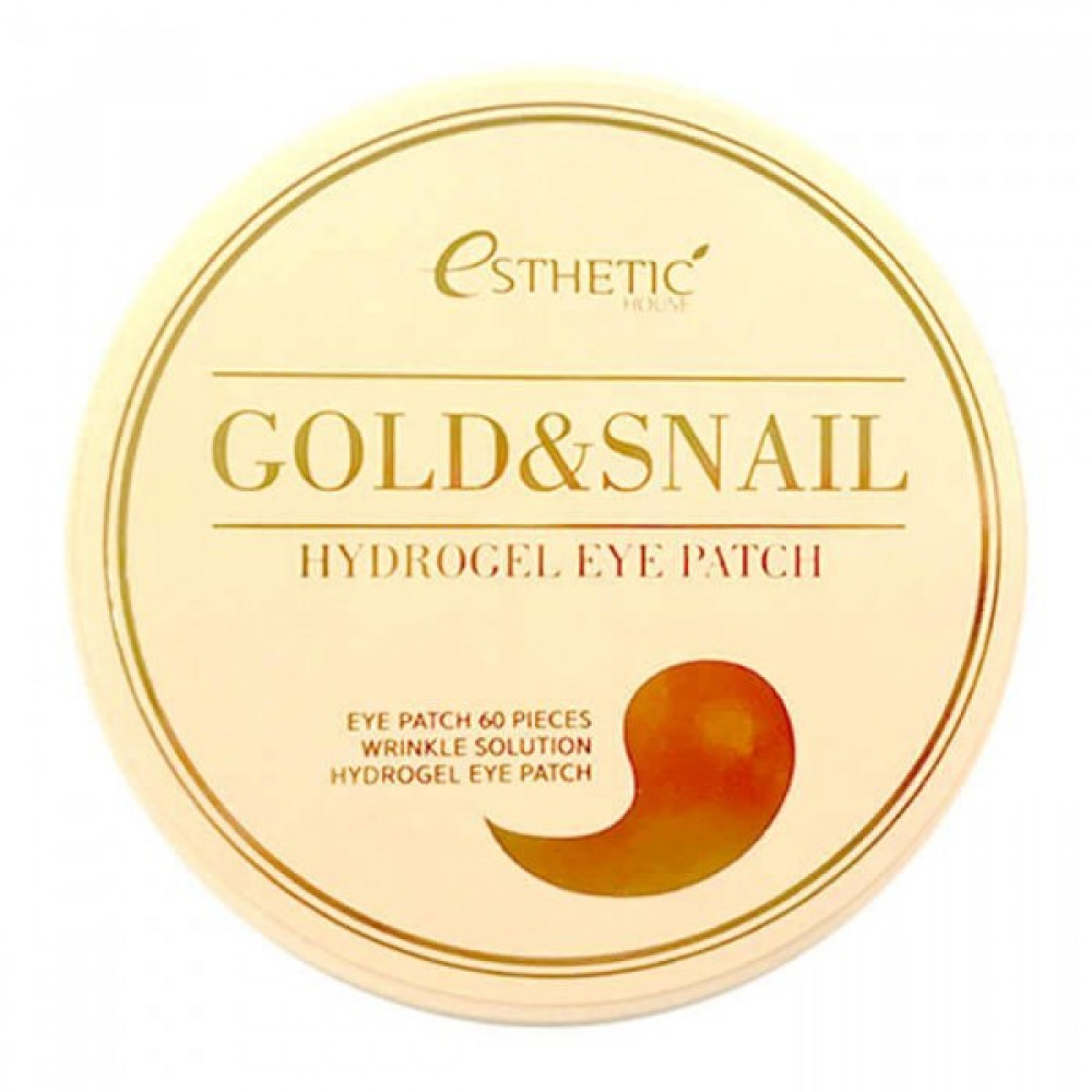 ESTHETIC HOUSE Gold & Snail Hydrogel Eye Patch Патчи гидрогелевые с золотом и муцином улитки