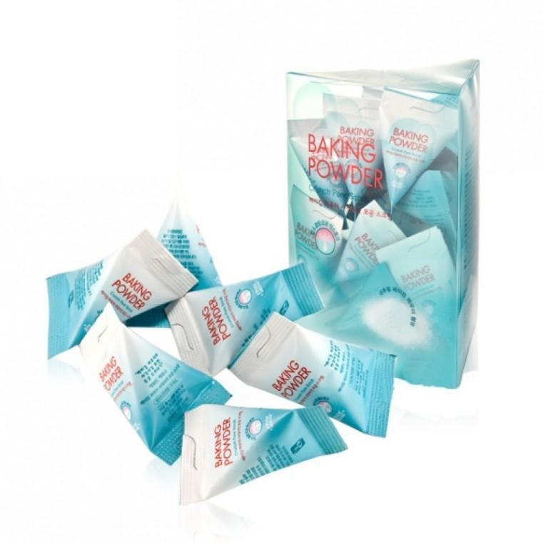 Etude House Baking Powder Crunch Pore Scrub Скраб для лица с содой в пирамидках, 24шт