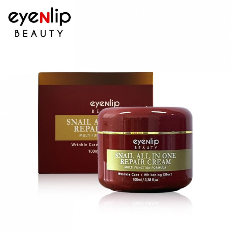 EyeNlip Snail All In One Repair Cream Крем многофункциональный восстанавливающий улиточный, 100мл