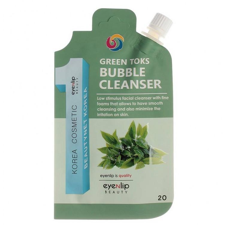 Eyenlip Pocket Green Toks Bubble Cleanser Пузырьковая пенка для умывания