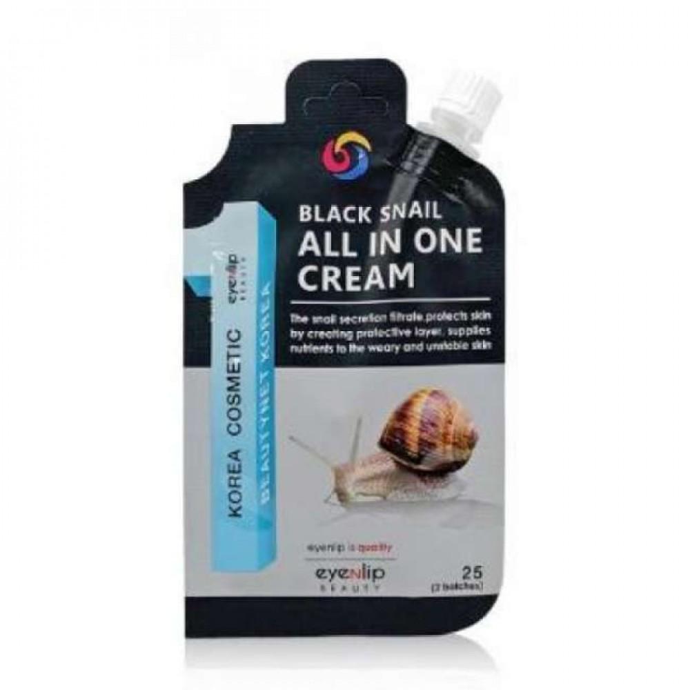 Eyenlip Pocket Black Snail All In One Cream Крем для лица с экстрактом черной улитки