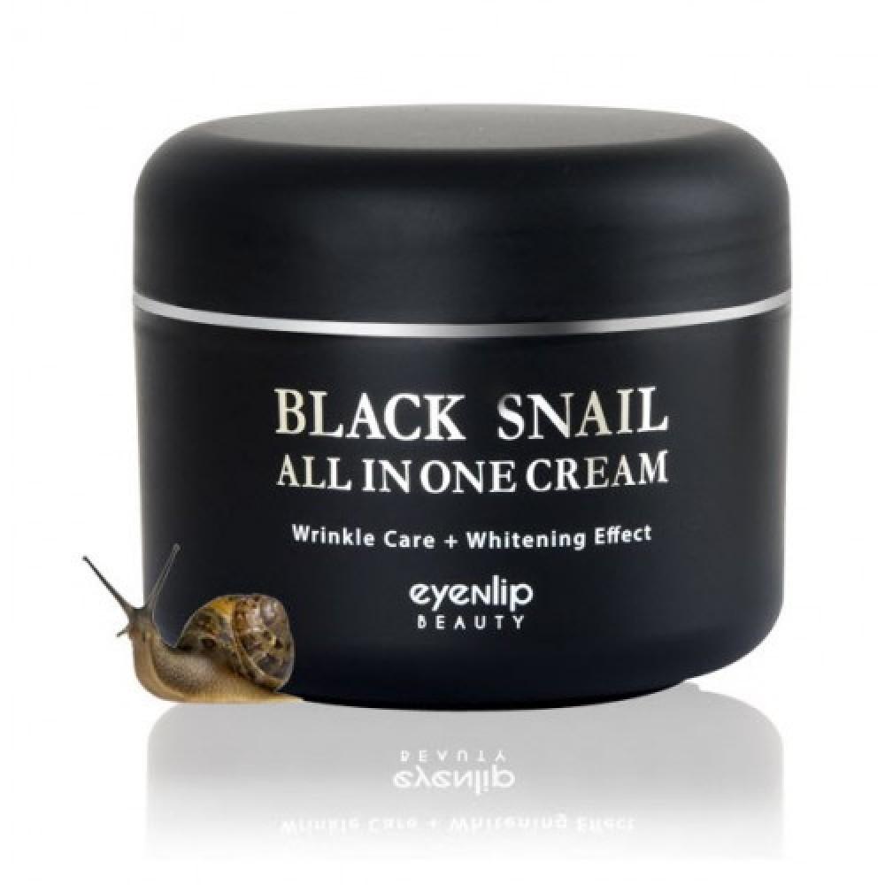 EyeNlip Black Snail All In One Cream Крем многофункциональный с муцином черной улитки