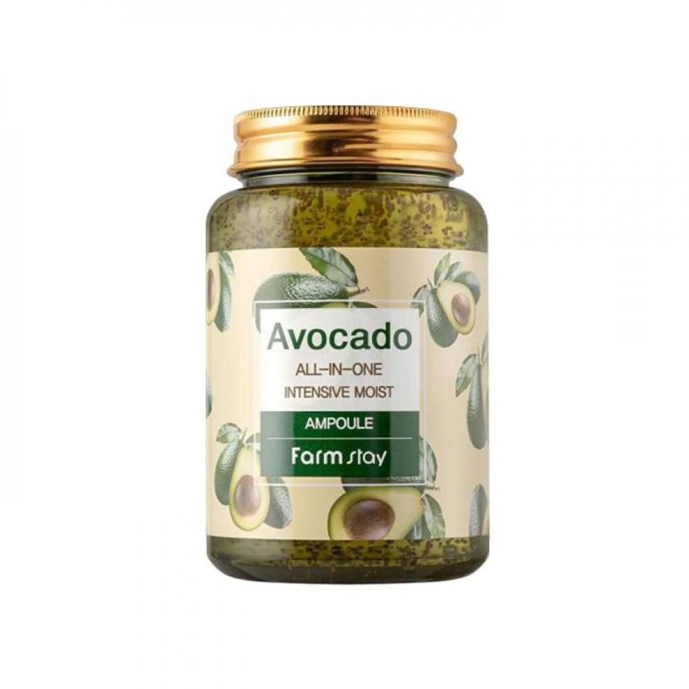 FARMSTAY Avocado All-In-One Intensive Moist Ampoule Ампульная сыворотка всё-в-одном с маслом авокадо