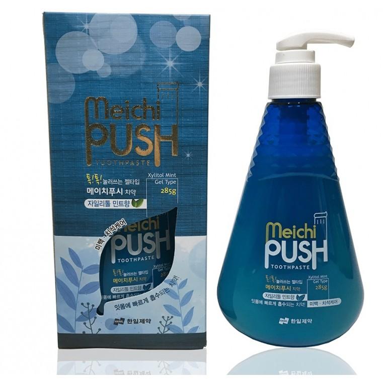 Meichi Push Зубная паста гелевая с отбеливающим эффектом, ксилитол с мятой