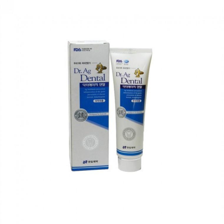 Hanil Doctor Ag Plus Toothpaste Зубная паста с серебром и мятой