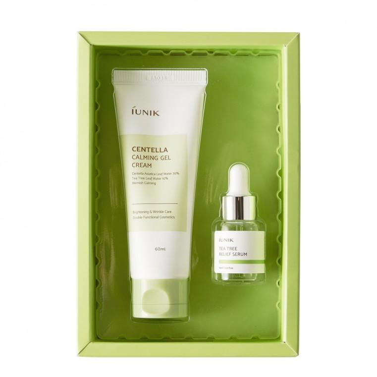 iUnik Centella Edition Skincare Set Успокаивающий набор для проблемной кожи с чайным деревом