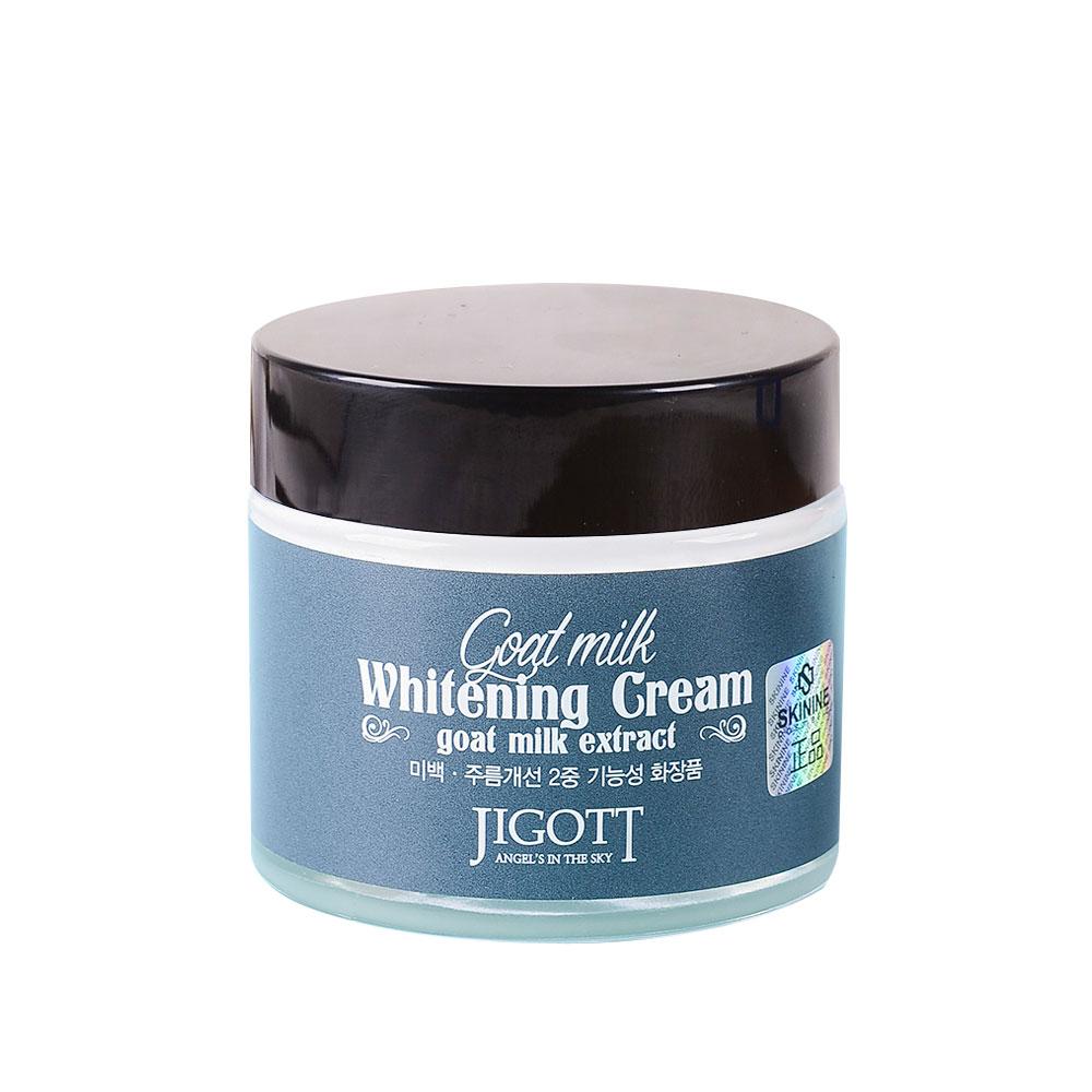 JIGOTT Goat Milk Whitening Cream Осветляющий крем для лица с экстрактом козьего молока