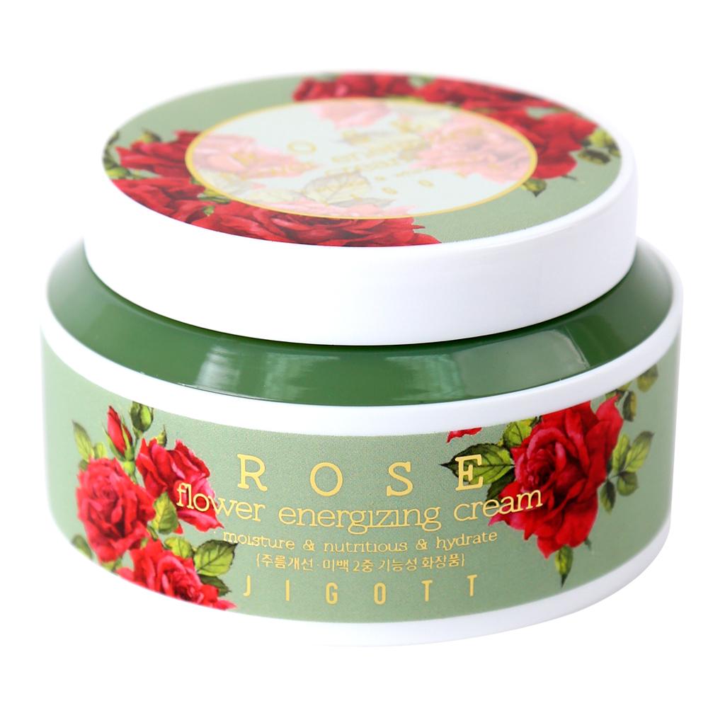 JIGOTT Rose Flower Energizing Cream Тонизирующий крем с экстрактом розы