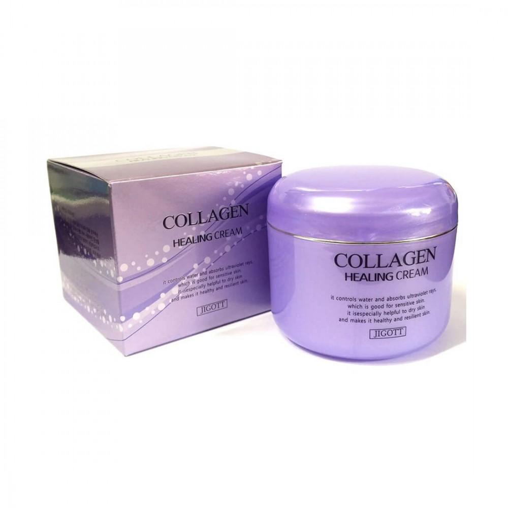 Jigott Collagen Healing Cream Крем восстанавливающий с коллагеном