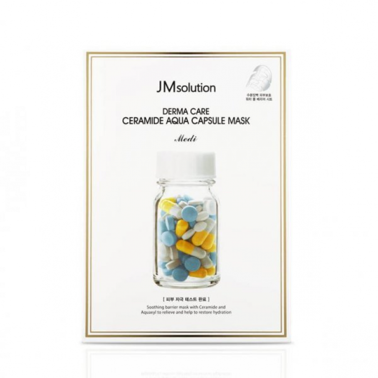 JM Solution Derma Care Ceramide Aqua Capsule Mask Восстанавливающая целлюлозная маска с керамидами